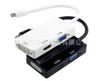av in cable - 3 in Mini Display Port Thunderbolt to DVI VGA HDMI TV AV HDTV Adapter Cable forfor Surface for Pro