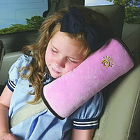Wholesale Children Baby Safety Strap Soft Headrest Neck Support Pillow Shoulder Pad for Car Safety Seatbelt pink
