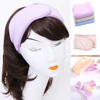 bath accessories sale - 2016 New Pink Spa Bath Shower Make Up Wash Face Cosmetic Headband Hair Band Accessories Sale