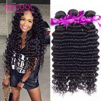 aliexpress brazilian hair - Peruvian Deep Wave Virgin Hair Brazilian Hair Weave Bundles Top Quality Aliexpress Remy Human Hair