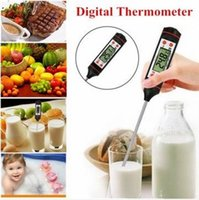 Wholesale Food Probe Meat Digital Cooking BBQ Thermometer Kitchen measure the temperature of water milk steak chicken
