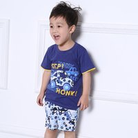american brand cars - 1 Years new brand baby children clothing sets cartoon cars cotton set baby boys T shirts and shorts set