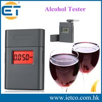 Wholesale Mini Digital LCD display with red backlight alcohol breath tester