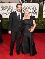 award actress - Formal men suits nd Golden Globe Awards Red Carpet Eric White and actress Patricia Arquette wedding suit PSc