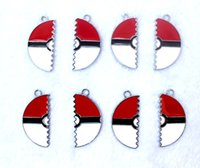 Wholesale Hot New Design Pikachu Pocket Monsters Ball Popular Jewelry Making Accessories Metal Charm pendants