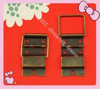 antique iron hinges - Antique wooden jewelry box hardware iron hinges support medium wire mm mm