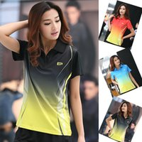 Wholesale badminton top female turn down collar short sleeve T shirt upperwear sports