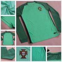 Wholesale 2016 Long Sleeve Green Ronaldo Jersey NANI J MOUTINHO PEPE Portogallo soccer jerseys GUERREIRO H POSTIGA Portuguesa Jersey Football Shirts