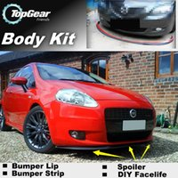 Wholesale Bumper Lips For Fiat Punto Grande Evo Zastava Front Skirt Deflector Spoiler For Car Tuning The Stig Recommend Body Kit Strip