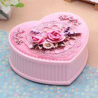 Cosmetic ballerina music boxes - Creative Peach Cake Music Box Ballet Girl Home Decoration Musical Jewelry Ballerina Carousel mm