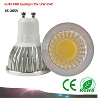 Wholesale Dimmable GU10 COB Spotlight W W W GU5 LED bulb V LED Lamp Dimmable COB LED Corn Bulb