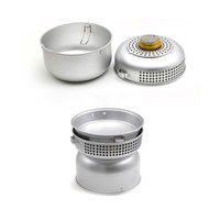 aluminium stove - persons Outdoor Camping Picnic Stove Cookware Cooker sets Alcohol Stove with Pots Aluminium Utensils Camping Cooker Set