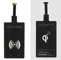 al por mayor receptor de la almohadilla de carga inalámbrica qi-50PCS de carga inalámbrica Qi cargador del receptor Receptor inalámbrico Receptor de carga USB Pad compatible con todos para el iPhone 5 / 5s / 5c / 6 / 6plus