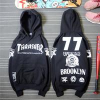 Wholesale Thrasher Hoodie New Skateboard Sweartshirt Pullover Sudadera Hombre Camouflage Black Hip Hop Hoodie No Thrasher
