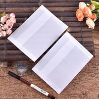 Wholesale pure white semitransparent vegetable parchment paper envelope size x125mm pc