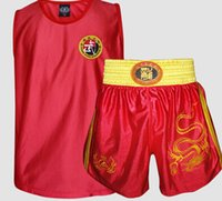 Wholesale Good quality Sanda jerseys sets mma shorts boxing professional competition clothing