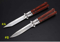 Wholesale price JL colour wood butterfly knife high quality knife also