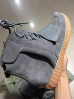 Wholesale 2016 New Kanye West Boost Light Grey Mens Womens Fashion Shoes Glow In Dark