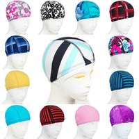 Wholesale Unisex Hats Comfortably Silicone Bathing Cap Waterproof Durable Swim Caps Wholesales Fashion Men Women caps high elastic fabric solid color