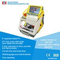 automatic key duplicator - Promotion Professional Locksmith Tools Full Automatic Electronic Key Duplicator Machine SEC E9 Car Key Code Machine Similar Function with A9