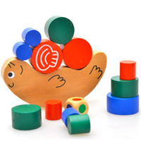 Wholesale Baby Toys Japan Brand Snail Balancing Game Small Size Educational Blocks Wooden Toy Geometric Blocks Child Gift