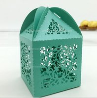 Wholesale Laser Cut Vine Candy Boxes Color Ribbon Party Decoration Favor Holder Pearl Cardboard Wrapping Customizable