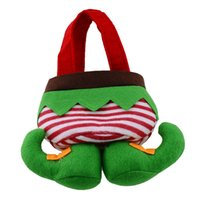 Wholesale DHL send Elf Candy Bag Christmas Gifts Christmas Candy Bags Lovely Gifts For Children in stock