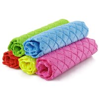 Wholesale Dish Towel_Microfiber Anti Grease Absorbent Cleaning Cloth