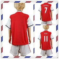 arsenal prints - Cheap Uniforms Kit Youth Kids arsenal Ozil Wilshere Alexis XHAKA Red Soccer Jersey Shirt Home Jerseys