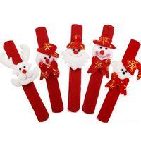 band christmas ornaments - Clap Circle Wrist Ring Band Slap Bracelet Adults Christmas Party Funny Santa Bracelet Baby Kid Christmas Gift