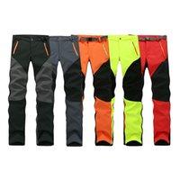 Wholesale Camping Hiking Winter Outdoor Sport Pants Warm Waterproof Fleece Windproof Fishing Pants Men Women Mountain Climbing pantalones