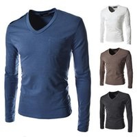 active basic tee - new arrival spring basic solid tee high qulity t shirt for men long sleeve active top clothing size M XXL T02