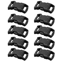 Wholesale For Paracord quot Curved Side Release Buckles Black Webbing Straps E00018