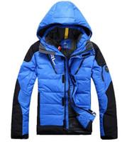 Wholesale 2017 man s winter down jacket casual warm jacket men white duck down men solid men s winter coat Size S XL colors