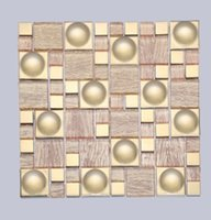 Wholesale Selling home improvement in the wall of the wall and wall decoration mosaic glass mosaic factory D