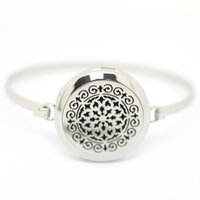 perfume set - Hollow Flowers L Stainless Steel Magnetic Essential Oil Diffuser Perfume Locket Pendant Bracelet With mm mm Aromatherapy Locket