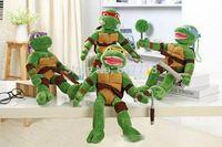 Wholesale 100pcs High Quality Anime TMNT Teenage Mutant Turtles Raph Leo Mikey Don Plush Toys Soft Stuffed Dolls CM