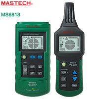 ac metal detectors - Mastech MS6818 Cable detector Wire Cable Metal Pipe Locator Detector Tracker Finder Metal Pipe Locator Meter AC DC V YQ3