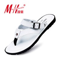 beach walking shoes - Flip Flops Men Sandals Summer Slip on Shoes For Casual Walking Seaside Beach Breathable Slides Men s Brand Designer Flats