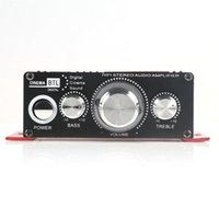 Wholesale Mini Hi Fi Stereo Amplifier Booster DVD MP3 Speaker for Car Motorcycle Home Audio Stereo Bass Speaker Amplifier Booster Vehicle