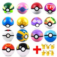 Wholesale 100pcs kings Ball Figures ABS Anime Action Figures PokeBall Toys Super Master Ball Toys Pokeball Juguetes CM TOY