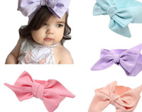 best hair elastics - Best Deal New Baby Girls Solid Colour Bowknot Headband Elastics For Newborns Elastic Hair Head Band Hair Accessories PC