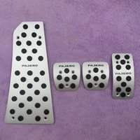 Wholesale For MITSUBISHI PAJERO Fuel Brake Foot Rest MT pedals Plate Non slip Accelerator brake pedal Pads Car Styling