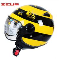 advance scooter - HOT SALE ZEUS ZS C JET riding helmet Advanced motorcycle off road helmet Scooter racing helmet