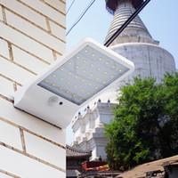 Wholesale Newest LM LED Solar Power Street Light mode PIR Motion Sensor Light Garden Security Lamp Outdoor Street Waterproof Wall Lights
