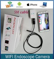Wholesale Android IOS Wireless mm Dia USB Endoscope HT10W m Long Cable Waterproof led Borescope Endoscope Inspection Tube Visual Camera