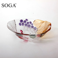 Wholesale Japan SOGA imported genuine grape crystal glass flower small fruit bowl salad bowl of fruit bowl fashion creativity