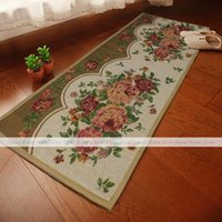 bath mat runner - YAZI x45cm Flower Blossom Extra Long Soft Fabric Home Kitchen Office Runner Rug Floor Bath Door Mat