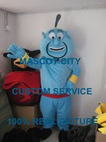 aladdin characters - Aladdin Genie Mascot Costume Adult Size Fairy Tale Character Aladdin Genie Mascotte Outfit Suit Cosply Carnival Costume