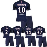 Wholesale KITS Hot El nuevo camisa del HOMBRE PSG MATUIDI PASTORE CASA adulto azul Mary camisa Ibrahimovic LUCAS David Luiz
